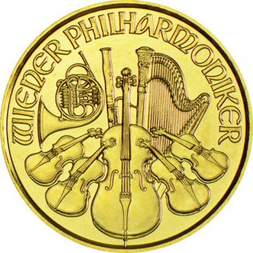 Philharmoniker 1/25 Unze Gold
