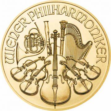 Philharmoniker 1/25 Unze Gold 2021