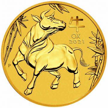 Ochse 1/10 Unze Gold 2021
