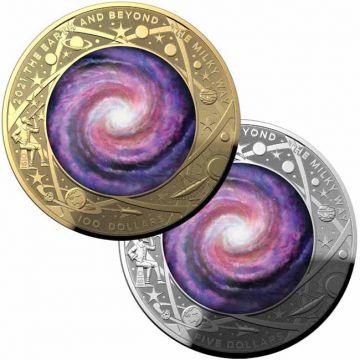 Die Milchstraße Set bestehend aus 1 Unze Gold und 1 Unze Silber