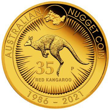 35 Jahre Känguru 5 Unzen Gold