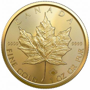 Maple Leaf 1 Unze Gold 2021