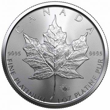 Maple Leaf 1 Unze Platin 2021