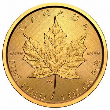50 $ Gold Maple Leaf mit Münzzeichen der Prägestätte in Winnipeg