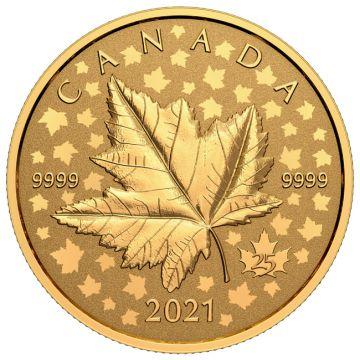 Maple Leaf Piedfort 1 Unze Gold