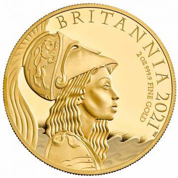 Britannia 2 Unzen Gold aus der Premium Range der Royal Mint