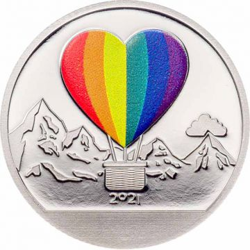 Liebe - Schneekugelmünze