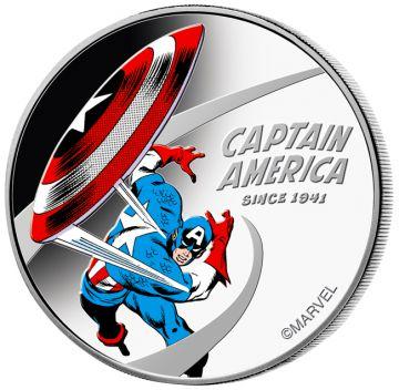 80 Jahre Captain America 1 Unze Silber