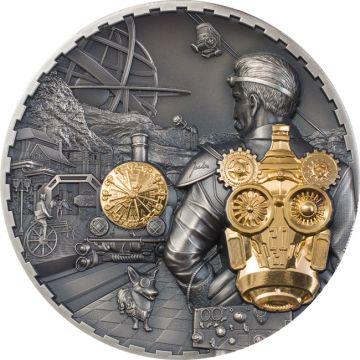 Steampunk: Jet Pack 3 Unzen vergoldet