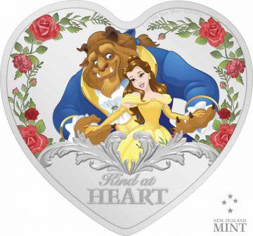 Die Schöne und das Biest 1 Unze Silber in Herzform