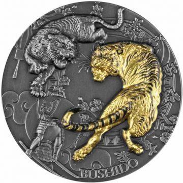 Bushido 2 Unzen Silber mit Teilvergoldung