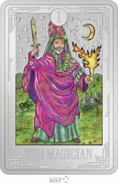 Tarot: Der Magier 1 Unze Silber Rechteck-Münze