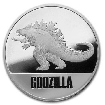 Godzilla 1 Unze Silber PP