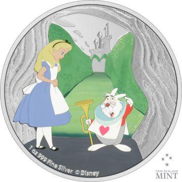 Das Weiße Kaninchen aus Alice im Wunderland Silber 1 Unze