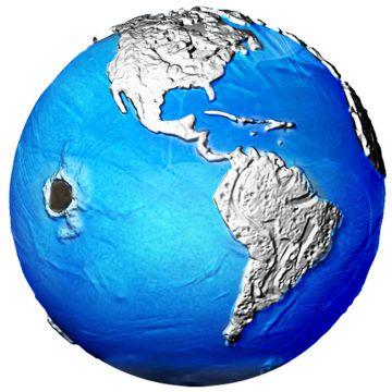 Blue Marble: Meteorit aus dem All 3 Unzen Silber