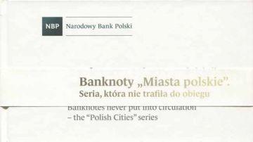 888 Zlotych 1990 (Städte von Polen) -Set 9 Werte-