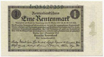 1 Rentenmark 1923