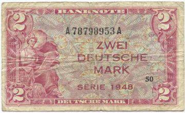 2 Deutsche Mark 1948 (Allegorische Darstellung)