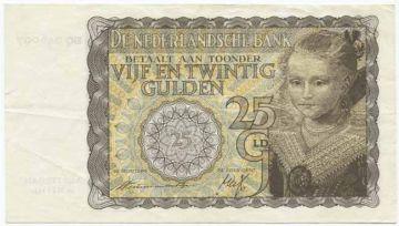 25 Gulden 1940 (Mädchenportrait nach Moreelse)