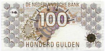 100 Gulden 1992 (Geometrische und abstrakte Muster)
