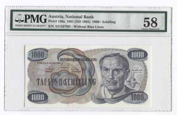 1000 Schilling 1961 (Kaplan, klein) -original RRR-