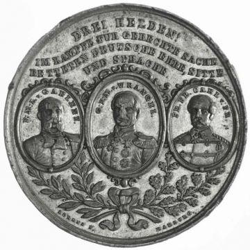 Zinnmedaille 1864, Auf den Sieg Preußens und Österreichs über Dänemark