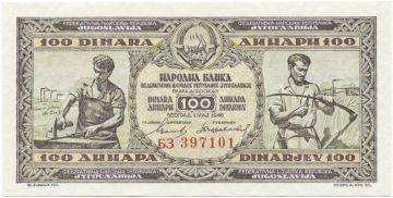 100 Dinara 1946 (Industrie- und Landarbeiter)
