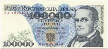 100000 Zlotych 1990 (Moniuszko)