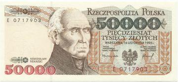 50000 Zlotych 1993 (Staszic)