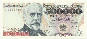 500000 Zlotych 1993 (Sienkiewicz)