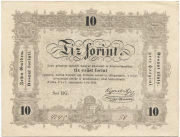 10 Forint 1848 (``Kossuth-Note´´)