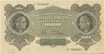10000 Marek Polskich 1922 (Mädchenportraits)
