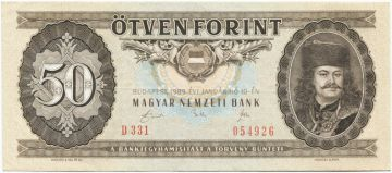 50 Forint 1986 (II. Rákóczi)