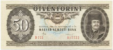 50 Forint 1989 (II. Rákóczi)