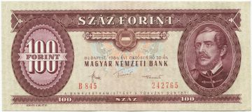 100 Forint 1984 (Kossuth)