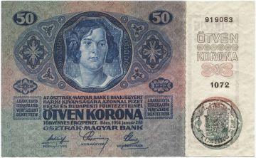 50 Coroane 1919 (Überdruckprovisorium)