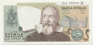 2000 Lire 1976 (Galileo)