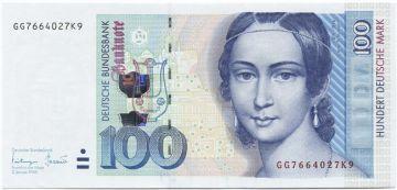 100 Deutsche Mark 1996 (Schumann) Fehldruck