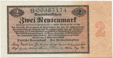2 Rentenmark 1923