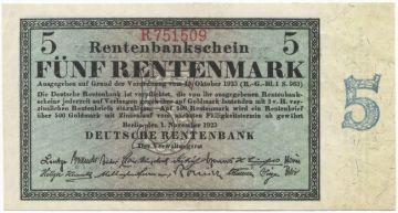 5 Rentenmark 1923
