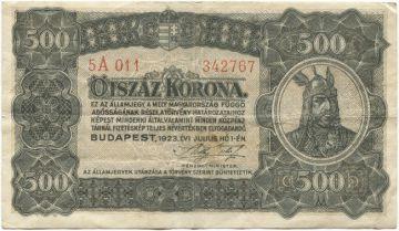 500 Korona 1923 (Fürst Árpád)
