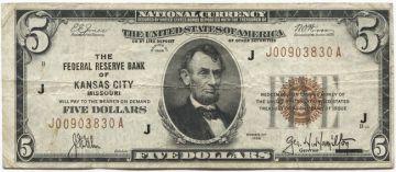 5 Dollars 1929 (Lincoln)