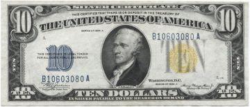 10 Dollars 1934A (Hamilton) Silver Certificate