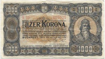 1000 Korona 1923 (Szent István)