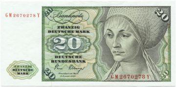 20 Deutsche Mark 1980 (Musikinstrumente)