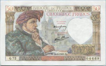 50 Francs 1941 (Jacques Coeur) 1