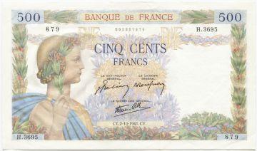 500 Francs 1941 (Allegorie des Friedens)