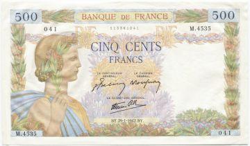 500 Francs 1941 (Allegorie des Friedens) 1