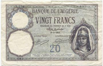 20 Francs 1919 (orientalisches Frauenportrait)