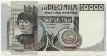 10000 Lire 1976 (Männerportrait)
